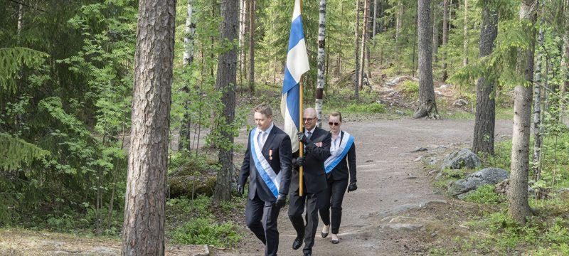 Pienimuotoinen korona-ajan lippujuhlapäivä tampereella
